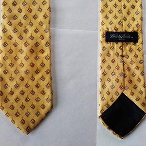 Brooks Brothers Yellow Silk Drum Print Necktie $79